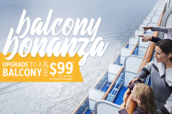 balcony bonanza princess cruises